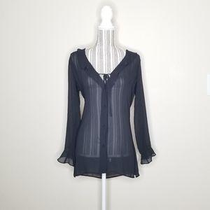 Victoria's Secret Sheer Button Down Blouse